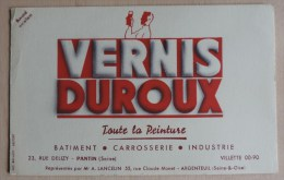 Buvards -Buvard - Vernis Duroux Toute La Peiture - Pantin (Seine ) - Representes Par Mr A. Lancelin Argenteuil - Carte Assorbenti