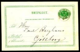 Entier Postal Suédois - Swedish Postcard - Circulé - Circulated - 1886. - Entiers Postaux
