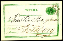 Entier Postal Suédois - Swedish Postcard - Circulé - Circulated - 1886. - Postal Stationery