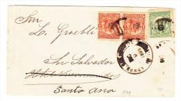 El Salvador Brief Dic.9.1899. Frankiert 5 Centavos Nach San Salvador - Salvador