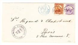El Salvador Brief 13.Ago.1894. Mit 1x10 + 1x5 Centavos Nach Paris Mit AK-0 Blau.und Transit N.Y. - Salvador