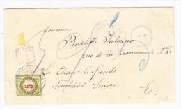 Guatemala Brief 13.mar.1907 Nach Chaux De Fonds Taxiert 5 Rp. - Guatemala