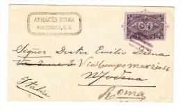 Guatemala Brief Frankiert 2 Centavos 1897 Nach Italien  Modena Weitergeleitet Nach Roma - Guatemala