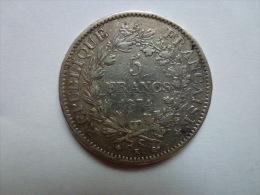 Pièces De 5 Francs Hercule 1874 - France