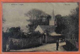 Carte Postale Toilée 50. Donville  L'église  Trés Beau Plan - Other Municipalities