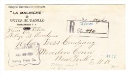 Guatemala R-Brief Flores AUG.29.1924 Via Belize Nach New-York USA - Guatemala