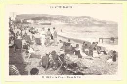 CPA  NICE  06    La Plage  Les Bains De Mer - Nizza
