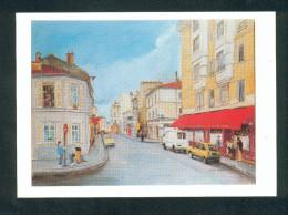 Paris 13è - La Butte Aux Cailles - Le Temps Des Cerises   (CPSM D´apres Peinture  De Claude Gentet ) - District 13