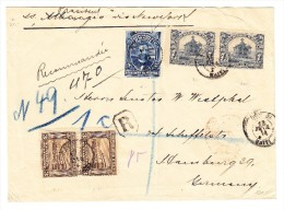Haiti R-Brief 13.Fev.1914 Nach Hamburg Mit AK-Stempel - Haiti