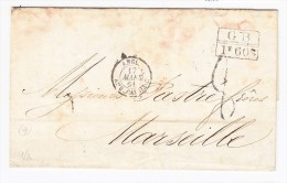 Haiti Port Au Prince 1861 Lettre Pour Marseille - Haiti