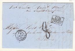 Haiti Les Cailles 1858 Lettre Pour Paris - Haiti