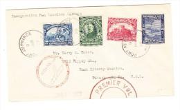 Haiti Port Au Prince 9-Jan-1929 Erstflug Brief Nach Pittsburgh USA - Haiti