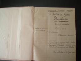 MILITARIA  cahier 100 pages  d'instruction  5 �me l�gion de garde r�publicain � BELLAC  1945 2 scans