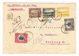 Haiti R-Brief Jérémie 12 Mai 1914 Nach Hamburg (Wachssiegel Ausgeschnitten) Befördert  SS Albingia - Haiti