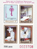 Macedonia 1993 Red Cross Mini Sheet Imperforated MNH - Macedonia