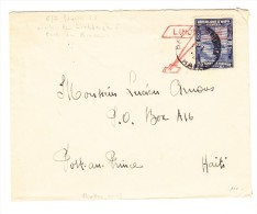 Haiti Brief 6/7-02-1928 Port Au Prince Mit Stempel Müller#0013 Besuch Lindbergh In Haiti - Haïti