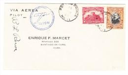 Haiti Flugpost Brief 13Mar1928 Port Au Prince Nach Santiago Cuba - Haïti