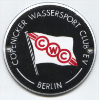 WATER SPORTS - CWC, COPENICKER WASSERSPORT CLUB, EV, Berlin, Germany, Enamel Logo, Badge - Remo