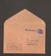 Bizone 6 Pfg.Bandaufdruck Mi.Nr.37 I Auf Drucksache Vom Hotel Victoria Nürnberg - Bizone