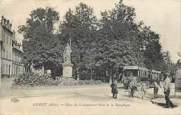 Ref 305-allier - Cusset -place Du Centenaire Et Place De La Republique -plan Tram -/ Carte Décollée- Voir Description - - Andere Gemeenten