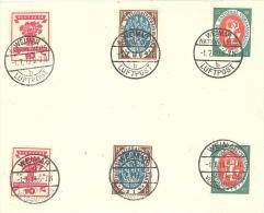 Michel #  107 - 09  2 X Auf Brief Mit Stempel WEIMAR  Nation Vers. Luftpost Und WEIMAR National Versammlung FDC Abstempe - Germania
