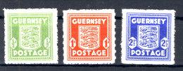 Besetzung Guernsey Michel No. 1 - 3 ** postfrisch