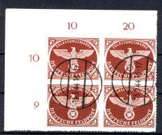 Deutsches Reich Feldpost Michel No. 2 B gestempelt used Viererblock