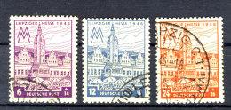 West Sachsen Michel No. 162 - 164 Z gestempelt used