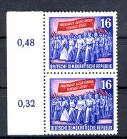 DDR Michel No. 347 X II ** postfrisch Paar