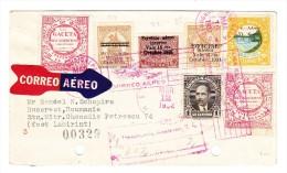 Honduras R-Flug Brief Tegucigalpa Mar.12.1932 Nach Bucarest Mit Ak Und Transit Stempel - Honduras