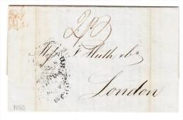 Mexico Vorphila Brief 1850 Vera Cruz Nach London Mit Inhalt übernahme Einer Firma - Mexique