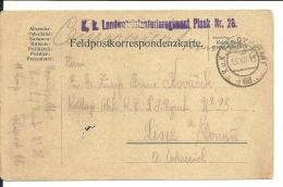 Carte Miltaire Autriche  1915 Landwohrinfanterierégime Nt N° 28 (655) - 1850-1918 Imperium