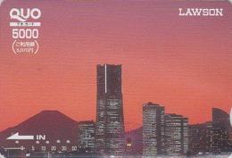Carte Japon Quo - VOLCAN MONT FUJI & Yokohama - VULCAN Mountain Japan Prepaid Card - VULKAN Berg Quo Karte - 208 - Paysages