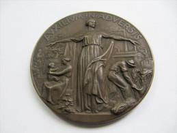 730 Medaille 1938 Italie Triest Assurance Medal Medaglia Di Bronzo Del Ventennio Riunione Adriatica Di Sicurita´ Trieste - Professionnels/De Société