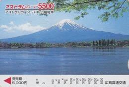 Carte Prépayée Japon - VOLCAN MONT FUJI & Lac De Montagne - VULCAN & Mountain Lake Japan Prepaid Card - VULKAN  - FR 215 - Volcanos