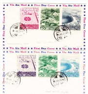 Mexico - Flugpost FDC 1.7.1938 Komplete Serie Mit 6 Werte Auf 2 Cuverts - Mexique