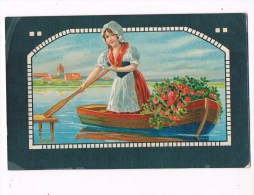 22077 ( 2 Scans ) Girl In Rowboat - Fille En Chaloupe - Meisje In Roeiboot - - Unclassified