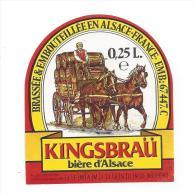 Etiquette De  Bière  -  Kingsbraü  -  Brasserie De Schiltigheim-  (67) - Cerveza