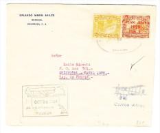 Nicaragua - Flugpost Brief Granada 12.5.1929 Nach Canal Zone Mit Ak Am Gleichen Tag - Nicaragua
