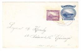 Nicaragua - GS 5 C. Mit Zusatz 10 C. Oct.20.1903 Bluefields Nach Chicago - Nicaragua