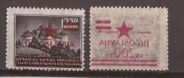 1945 1-7    JUGOSLAVIJA JUGOSLAWIEN KROATIEN HRVATSKA ZAGREB PROVISORIA OVERPRINT ABKLATSCH  Mnh - 1945-1992 Repubblica Socialista Federale Di Jugoslavia