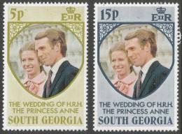South Georgia. 1973 Royal Wedding. MH Complete Set. SG 38-9 - South Georgia