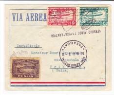 Paraguay Zeppelin Brief 16.10.1933 Nach Fribourg CH Frank. Serie Zeppelin 1933  9 +13,50 $ - Paraguay