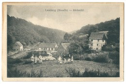 Cpa: 57 LEMBERG (ar. Sarreguemines) Bildmûhl (animé) 1928 - France