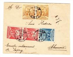 Peru UPU Marken Auf R-Brief Lima 9 Mar1900 Nach Leipzig DE - Pérou
