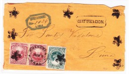 Peru R-Brief 20.10.1878 Nach Lima - Pérou