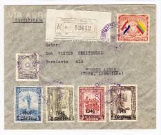 Paraguay R-Flugpost Brief  4.Abr.1946 Aeroposta Nach Buenos Aires - Paraguay