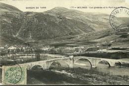GORGES DU TARN, Hameau De Molines Vue Générale Et Pont De Quézac - France