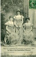 CHALON SUR SAONE - Fêtes Du Carnaval En 1909 La Reine Et Ses Demoiselles D'Honneur - Chalon Sur Saone