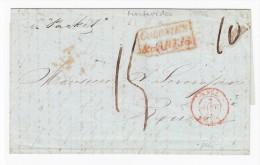 Uruguay Vorphila Brief Montevideo 21.9.1846 Nach Rouen F. Mit Ak. Stempel - Uruguay
